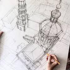 architectural sketches by adelina gareeva u2014 designcollector