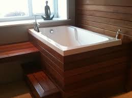 Wood Heated Bathtub Bathtubs Idea Astonishing Deep Soaker Tub 2 Person Soaking Tub
