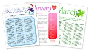 free word newsletter templates download free newsletter templates