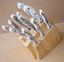 buck kitchen knives buck knives kitchen carving knife set with block ebay
