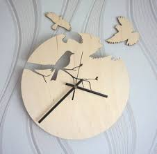 decoration impressive bird siluet clock creative and unique design
