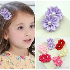 baby girl hair accessories flower with pearl hair clip baby girl headwear kids hairpin