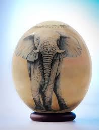 ostrich egg painted decoupage elephant ostrich egg the majestic elephant