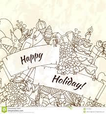 Sketch Birthday Card Vector Sketch Element For Happy Birthday Card Stock Vector