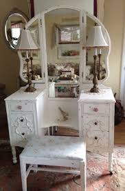 Vintage Mirror Vanity Exciting Antique Vanity Table With Mirror And Bench 95 For