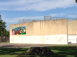 fantastic food garden mural the racquetball wall before my work began the mural shown on the wall was painted by aaron grover in 2011 my job was to extend his design and paint a food