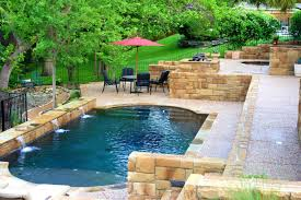 sloped backyard pool ideas backyard fence ideas