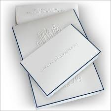 embossed stationery navy bordered embossed stationery fold note