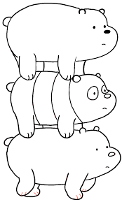 how to draw coloring pages how to draw grizzly panda and ice bear from we bare bears