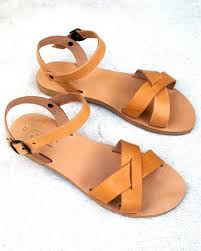 fairly made hand made leather greek sandals