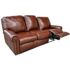 Modern Reclining Leather Sofa Fairmont Reclining Sofa By Omnia Leather Chaise Footrests