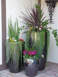 fall decor front porch outdoor potted plant arrangements outside
