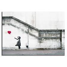 aliexpress com buy banksy canvas print ballon with heart