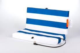 Electric Heated Cushion Mobile Heated Cushion Blue White Portable Heated Seat Cushion