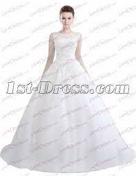 wedding dress illusion neckline illusion neckline gown wedding dress 2017 1st dress