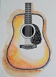 handmade acoustic guitar blank cards guitar cards