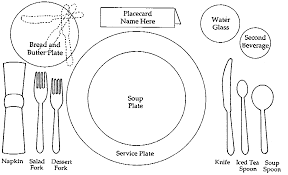 Formal Table Setting Formal Place Setting Clipart 16