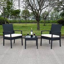 How To Take Care Of Wicker Patio Furniture - amazon com tangkula 3 pcs outdoor rattan patio furniture set