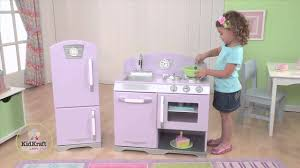 Toy Kitchen Set Wooden Ideas Cute Kidkraft Retro Kitchen For Best Kids Kitchen Idea
