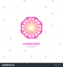 pa design boutique gentle pink beautiful circular logo boutique stock vector