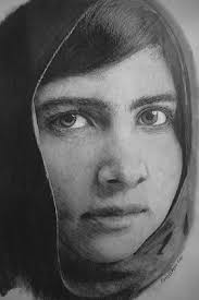 breathe couple more charcoal and pencil sketches malala