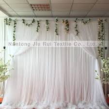wedding backdrop tulle 1 3m 3m white drape silk and tulle popular