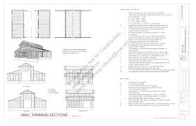workshop blueprints download pdf barn plan sample g339 52 u0027 x 38 u0027 barn plan