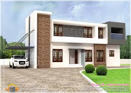 kerala home design staircase modern flat roof house plans square feet kerala home design and