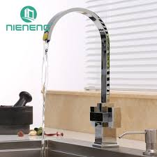 brass kitchen faucet nieneng modern brass kitchen faucet double handle tap accessories