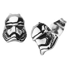 stainless steel stud earrings wars stormtrooper stainless steel stud earrings zing pop