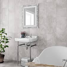 attractive white brick tiles bathroom photo home design