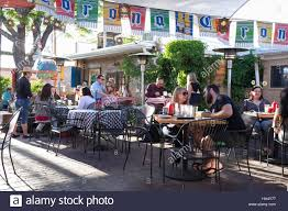 The Santa Fe New Mexican Santa Fe New Mexico Tourists Dining At The Cowgirl Bbq At The