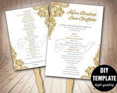 wedding program templates fans kraft wedding program fan wedding program template printable