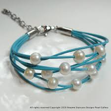 turquoise pearls bracelet images Gorgeous girls pretty turquoise pearl bracelet JPG