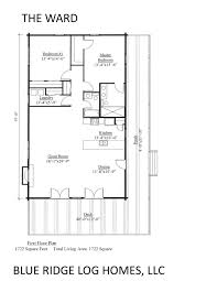 One Level Home Floor Plans The Ward Floor Plan One Story Log Homes Blue Ridge House Level