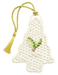 ornaments basket weave tree belleek ornament