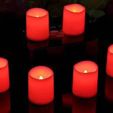 led tea lights with timer 6 pillar flameless candles red led tea lights with timer 5cm