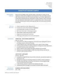 Sample Resume Objectives For Hair Stylists by Stylist Resume Template Free Resume Example And Writing Download
