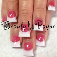 flared acrylic nails with chevron inm nails by me pinterest