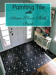 how to paint and stencil tile with chalk paint barnaclebutt