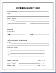 Resume Application Form Sample by Sample Medical Application Form Disability Application Form