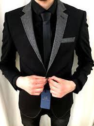 designer sakko ax schwarz black designer sakko blazer kragen tailliert slim
