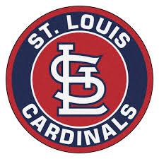louis cardinals logo roundel mat 27