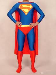 Superman Halloween Costume Class Blue Halloween Lycra Spandex Zentai Extra Large Super Hero