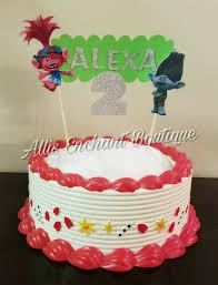 trolls cake topper glitter name cake topper trolls birthday cake