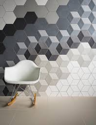 love hexagonal tiles and baby block pattern bathroom