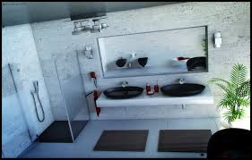 cool modern vanity with double white rectangular sinks amidug com
