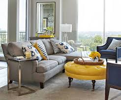 gray leather ottoman coffee table home interior blue gray yellow living room decorating ideas with l