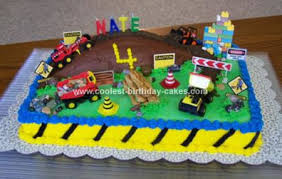 construction birthday cake coolest construction site birthday cake
