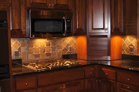 dazzling brown grey orange colors natural stone backsplashes